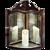 18TH Century mahogany wall lantern