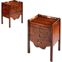 Pair Chippendale Period Night Tables