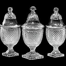 19th Century Glass Bonbonniere