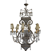 20th Century Parisian Art Deco Chandelier