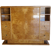 20th Century Trulia Burl Wood Cabinet