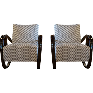 Beechwood Pair Of Lounge Chairs