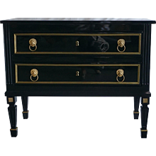 Pair Of Ebonized Chests Ca. 1820 France