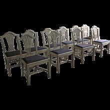 19th Century Set Of Swedish Dining Chairs