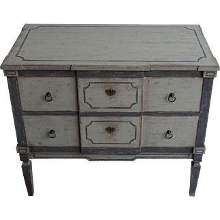 19th Century Pair Of Gustavian Style Chests