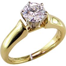 1 ct. D Internally Flawless Diamond 18K Solitaire
