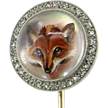 J.E. Caldwell Art Nouveau Essex Crystal Fox Pin
