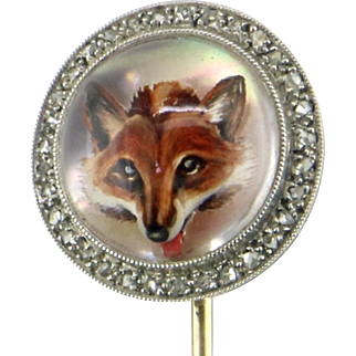 J.E. Caldwell Art Nouveau Essex Crystal Fox Pin