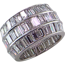 13.5 Ct. Baguette Platinum Eternity Ring