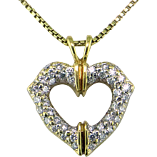 Cartier Diamond & 18 Karat Gold Heart Pendant