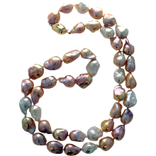 FireBall Pearl Opera Length Necklace