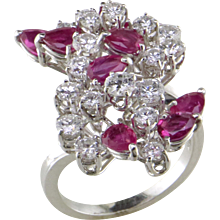 Burma Ruby & Diamond 18K Ring