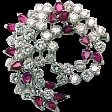 Burma Ruby & Diamond Brooch