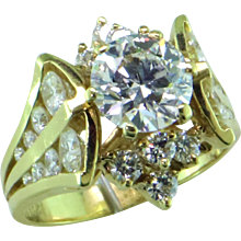 Lazare Kaplan 1.37 ct Diamond in 18K Designer Ring