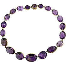 Victorian Amethyst Riviere Necklace