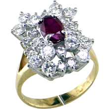 Ruby & Diamond 14K Ring