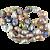 """""""Fireball"""" Multicolor Pearls"""
