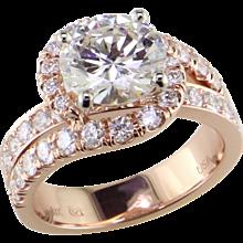 3 1/2 ct Diamond 18K Rose Ring