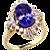 Fabulous Tanzanite & Diamond 18K Ballerina Ring