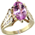 Fine 3.23 ct Pink Topaz & Diamond Ring