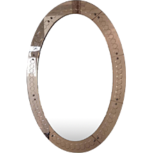 Large Cristal Arte Oval Mirror, Italy