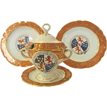 Group of Flight and Barr Worcester Armorial Porcelain