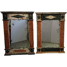 Pair of Marble Specimen Mirrors