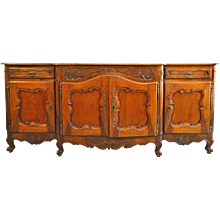 French Fruitwood Buffet 18th Century 94""