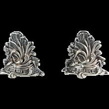 Pair of French Menu Holders Sterling