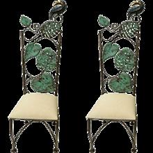 Pair Emilia Castillo Parrot Chairs