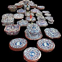 Spode Greek Clobbered Large Dinner Set 1806