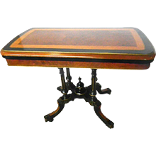 Victorian Ebonized Card Table