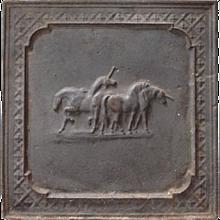 Unicorn Cast Iron Fireback 18th Century