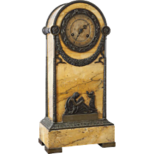 Siena Marble Mantle Clock