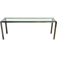 """Steel and Glass Console Table 75"""""""