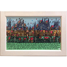 Howard Finster Golden City of Larken Dald