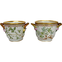 Pair of Flora Danica Large Wine Coolers