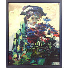 Harlequin Boy Painting Luigi Corbellini