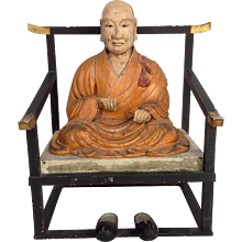 Antique Seated Buddha Japan 19th Century