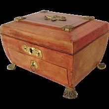 Regency Leather Workbox Early 19th c.