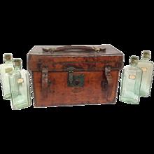 Wine Sample Case Farrow & Jackson Leather 19th Century