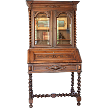 Louis XIII Walnut Bibliotheque
