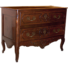 Period Louis XV Walnut Commode
