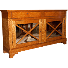 Charles X Restauration Burl Lemonwood Enfilade