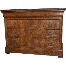 Louis Philippe Burled Elm Commode