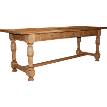 Country Monastery Stripped Oak Table