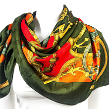 Hermes Silk Jacquard Scarf L'Instruction du Roy