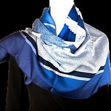 Authentic Vintage Hermes Silk Scarf Oiseaux Migrateurs