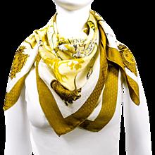 Hermes Silk Jacquard Scarf Venerie des Princes RARE w/Box