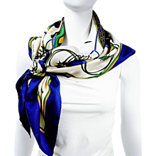Hermes Silk Scarf Les Voitures a Transformation Blue